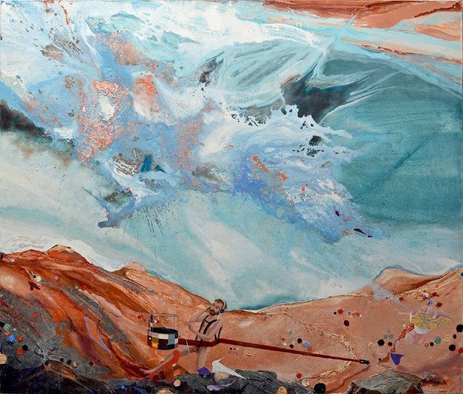 Michael Sistig_Afflatus_220x260x3.6cm_Mixed Technique on Canvas_2010-2015