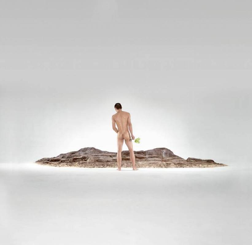 牛俊強, 《無題 II》 , 2015, 147X147cm, 複合媒材