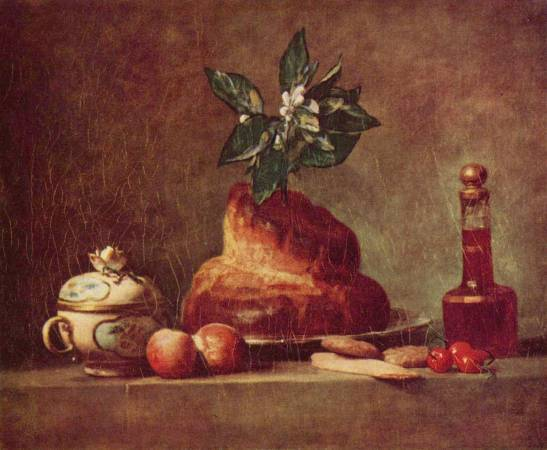 夏丹《奶油蛋捲》(La Brioche)。圖/取自Wikiart。