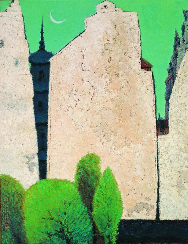 壁韻-膠彩-1983 (150x197cm)