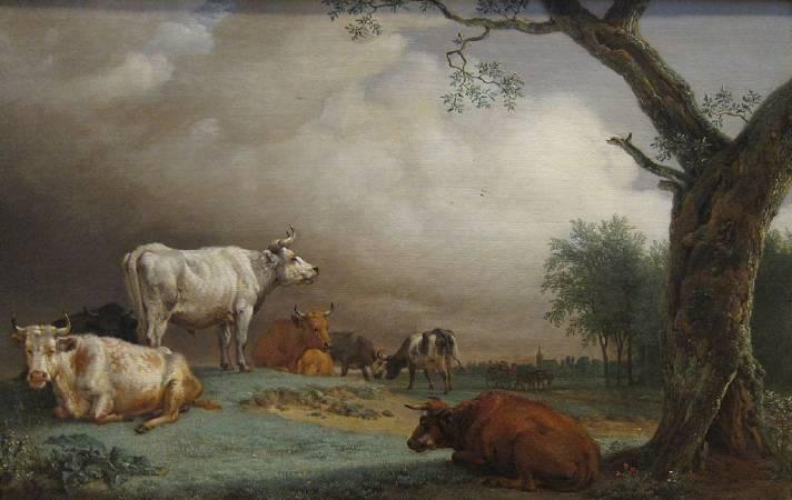 包路斯•波特《Cattle in a Meadow》。圖/取自Wikipedia。