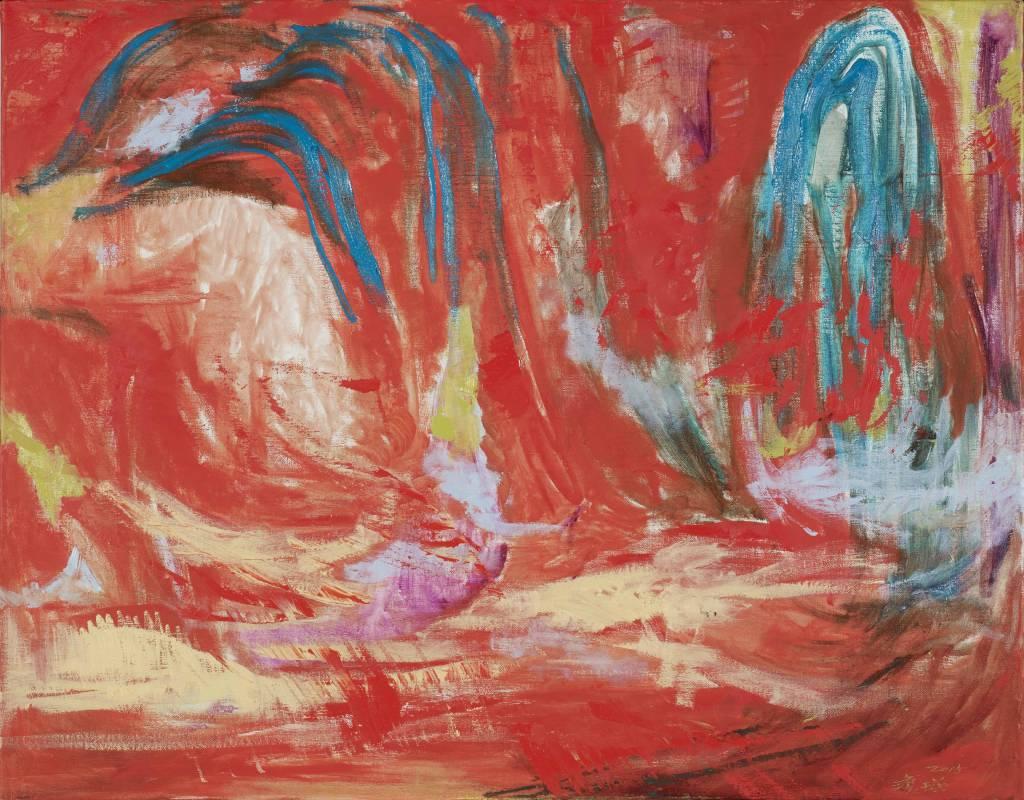 林瓊瑛 祥雲之一80x116.5 cm 油彩、畫布 2015