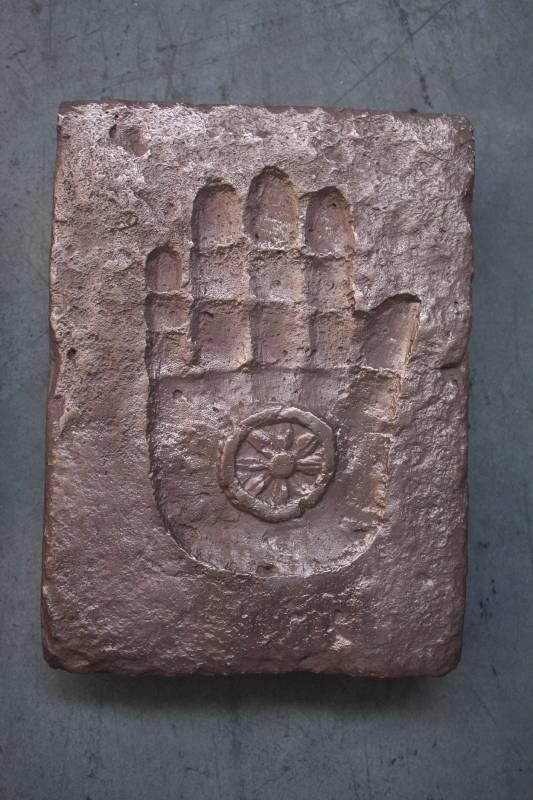 許志強 摩訶無畏手印 24.8x18.5x5.5 cm磷青銅 原始件1992鑄造件2015