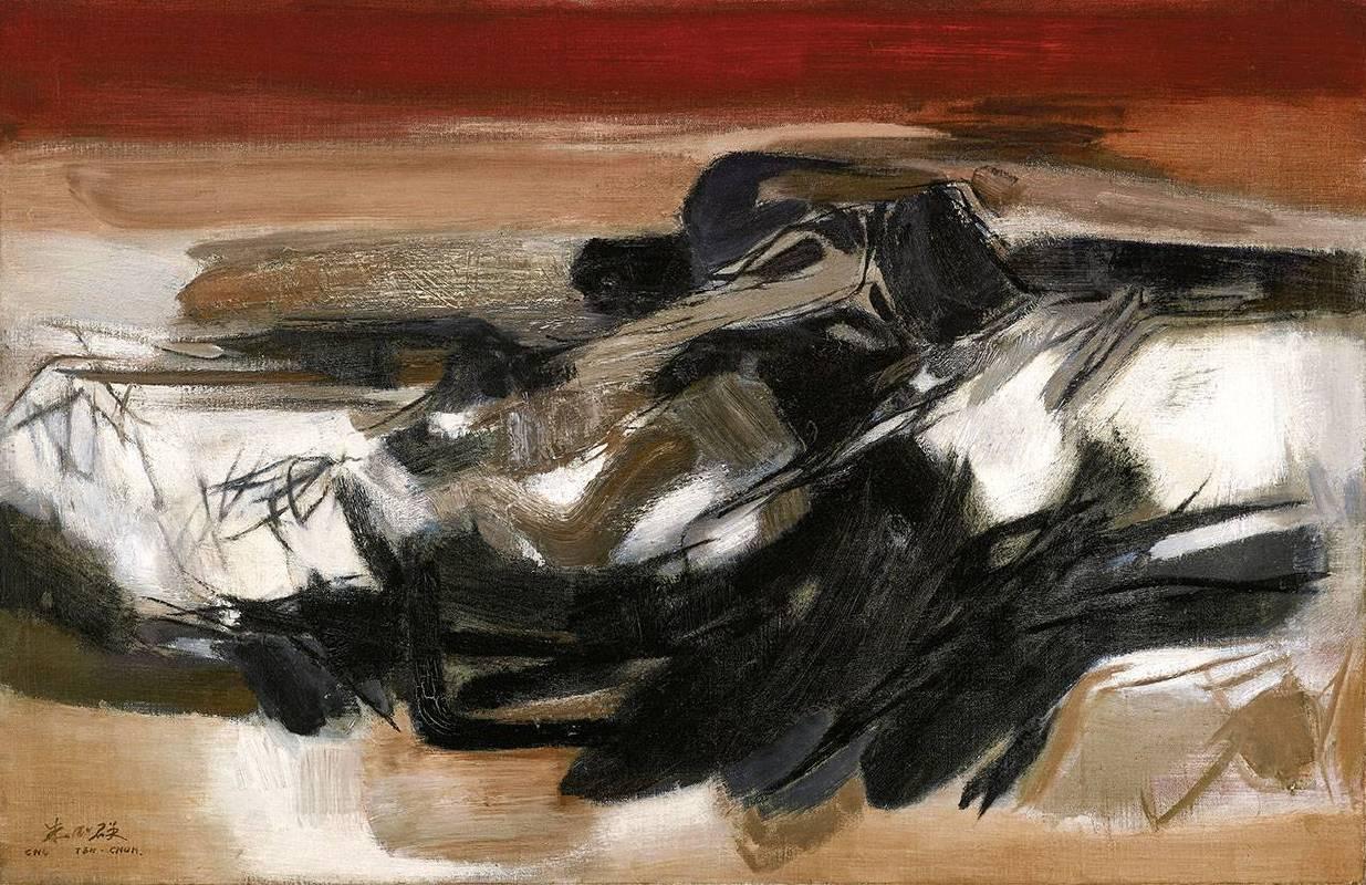 朱德群《抽象No. 82》 1961 油彩 畫布 65 x 100 cm預估價2,800萬-3,600萬台幣