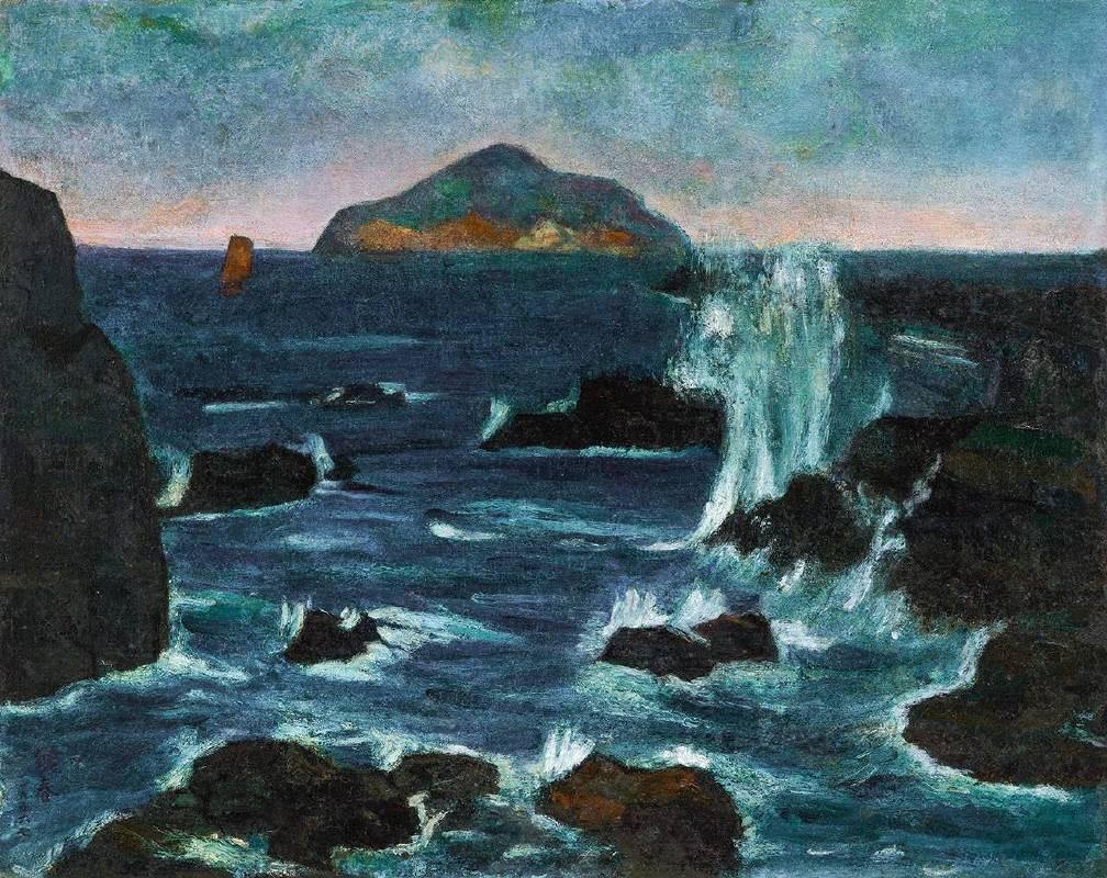 廖繼春《龜山島晨曦》1956 油彩 畫布 80 x 100 cm 預估價2,400萬-3,800萬台幣