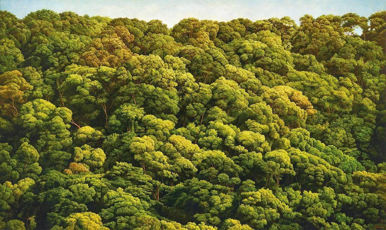 葉子奇《有相思樹林的陽明山》 2007-2008 卵彩 油彩 亞麻布 127 x 213.3 cm預估價750萬-950萬台幣