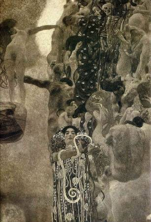 Gustav Klimt,《Medicine》(醫學),1907。圖/取自https://commons.wikimedia.org/wiki/File:Klimt_-_Medizin_1901-1907.jpeg