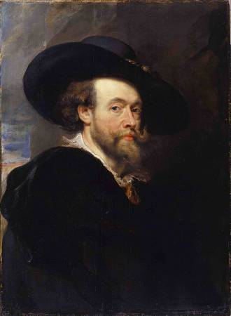 Peter Paul Rubens,《 Portrait of the Artist 》,1623。圖/取自Wikipedia。