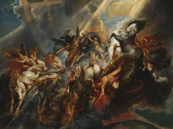 Peter Paul Rubens,《The Fall of Phaeton》,1605。圖/取自Wikipedia。