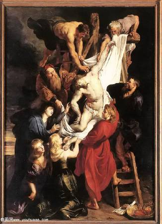 Peter Paul Rubens,《Descent from the Cross》,1611-1614。圖/取自Wikiart。