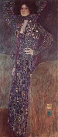 克林姆《艾米麗肖像》。