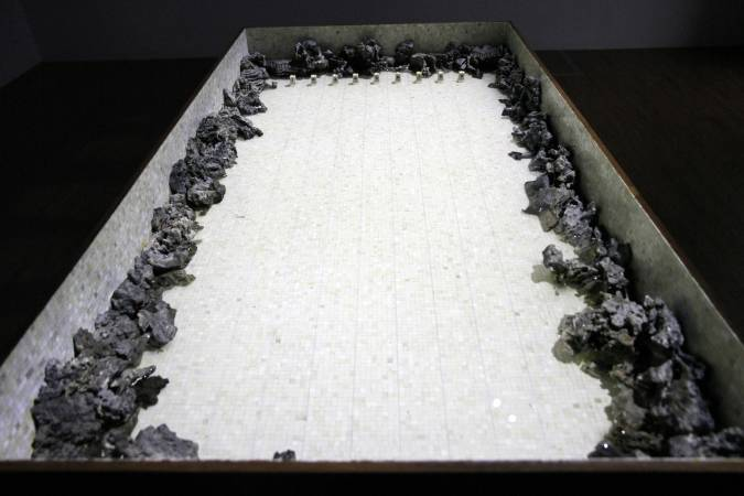 倪有魚,《臥遊池》。圖/非池中藝術網攝。