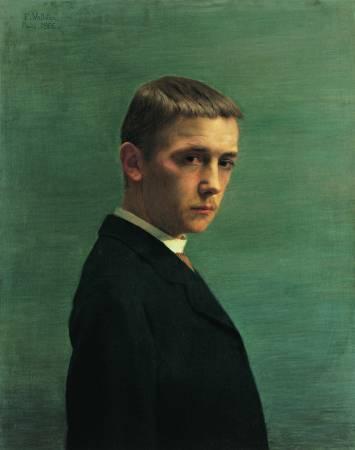 瓦洛東,《22歲的自畫像》,1885。
