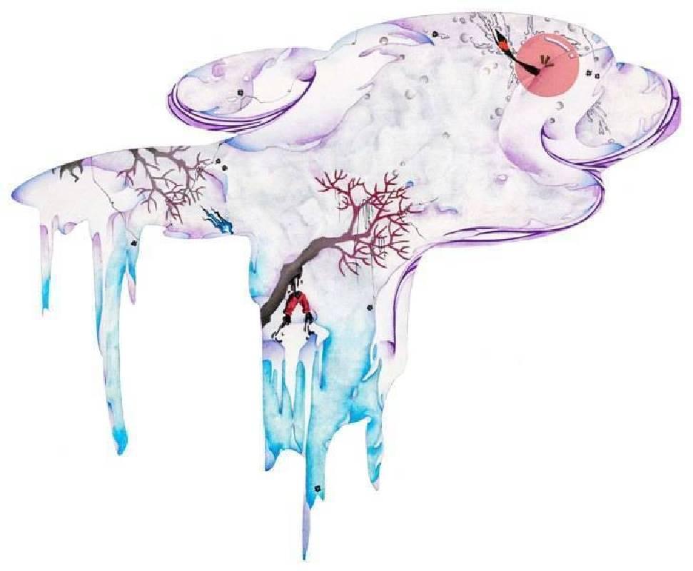 吳詠潔   迂迴之境2  成形畫布(約46x55 cm)  複合媒材  2015