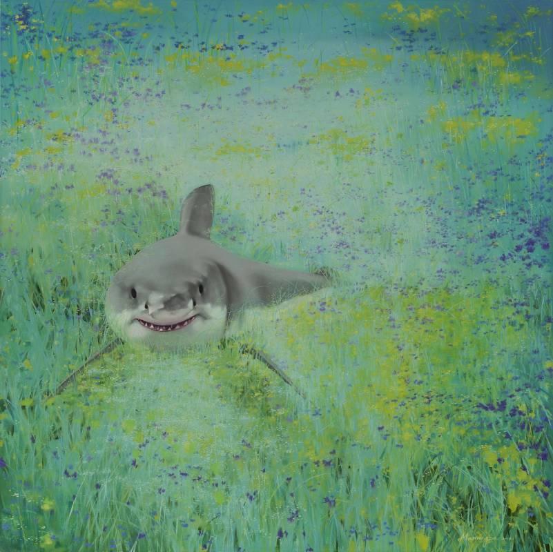 馬銘澤,  4億年後的我 布面油彩 150x150cm 2014