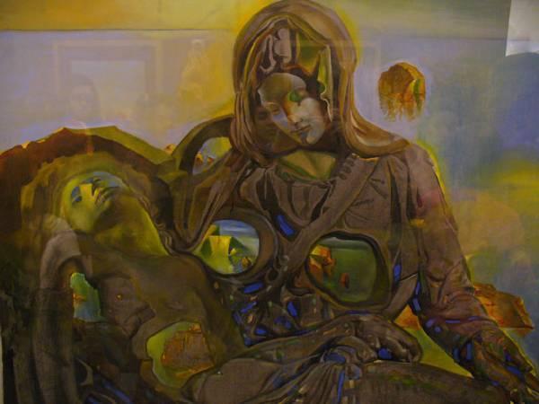 達利以米開朗基羅《聖殤》為靈感的畫作。
