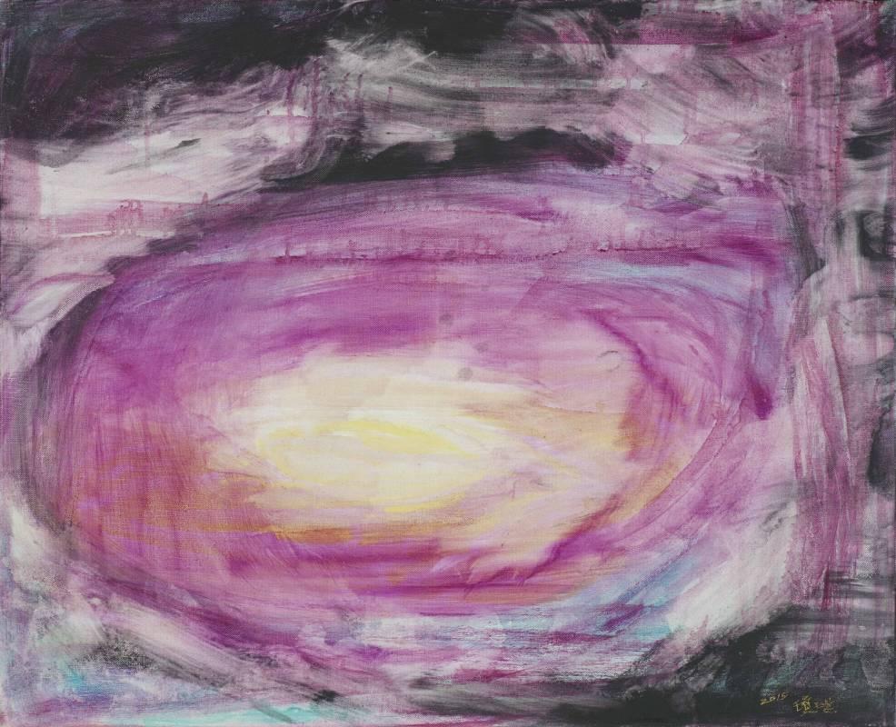 林瓊瑛 祥雲之八 65x80 cm 油彩、畫布 2015