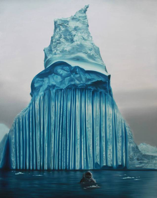 冰凍星球-1號,油彩畫布,200x160cm,2012