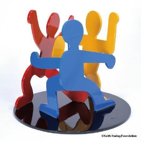 〈跳舞仨人〉Three dancing figure。圖/Keith Haring Foundation提供。