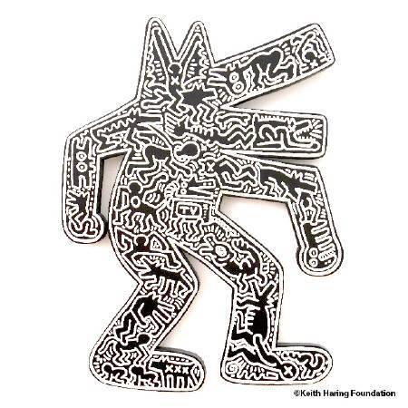 〈狗〉Dog。圖/Keith Haring Foundation提供。
