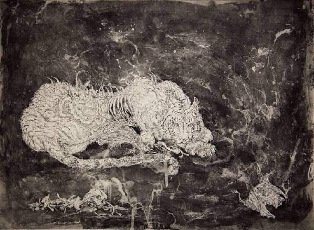陳思穎,《Abject Of The Night》,鋅版蝕刻,56×76cm,2015