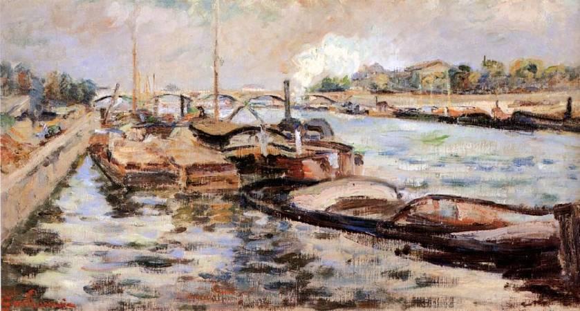 基約曼《塞納河》(The Seine),1868。圖/取自Wikipedia。