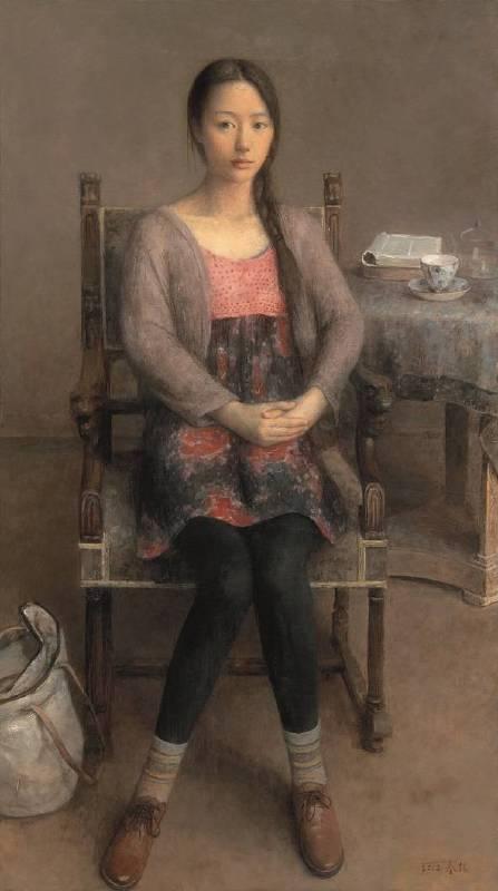 朱春林《面對-信心》油彩 畫布 160x90cm 2012