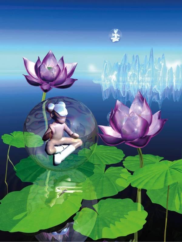 洪東祿,《蓮花生》,2004。