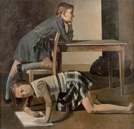 Balthus,《Children》,1937。圖/取自Wikiart。