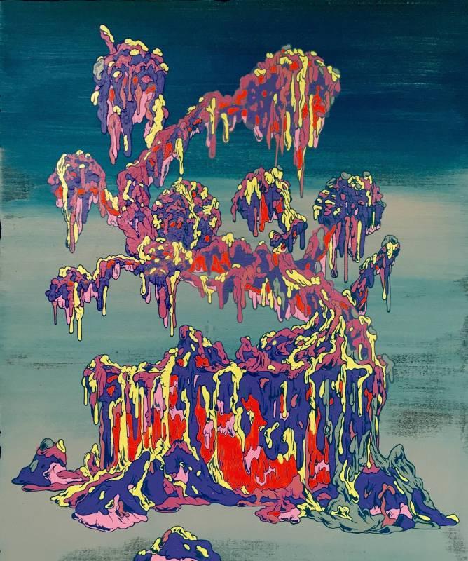張騰遠《召喚:菊盆栽》,2016。