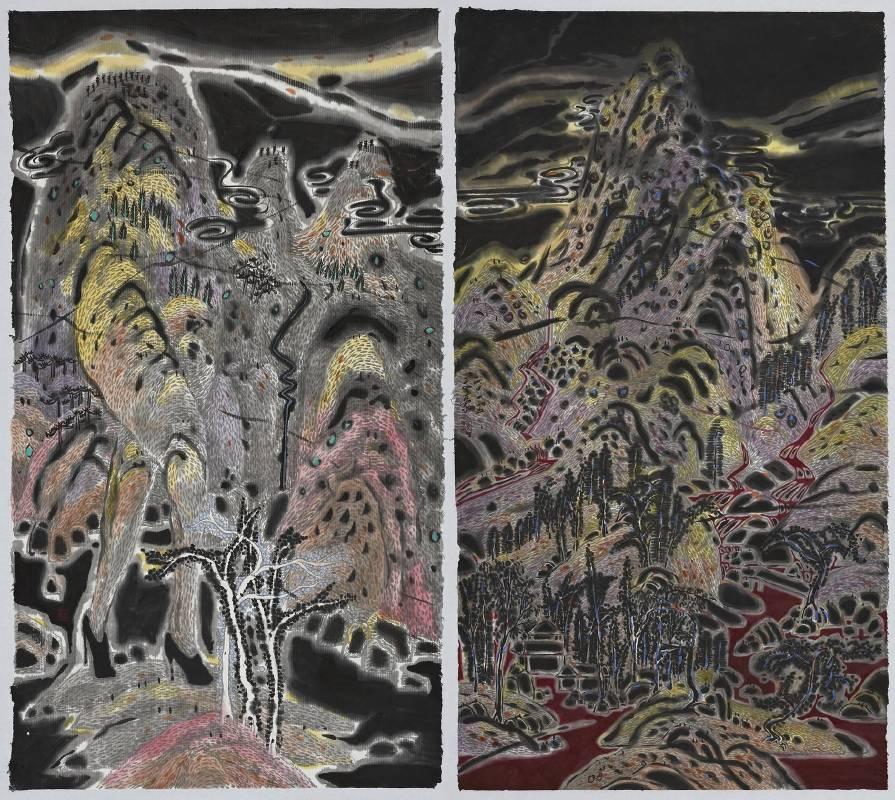 廖文豪,《潛夜山居圖》,2015。