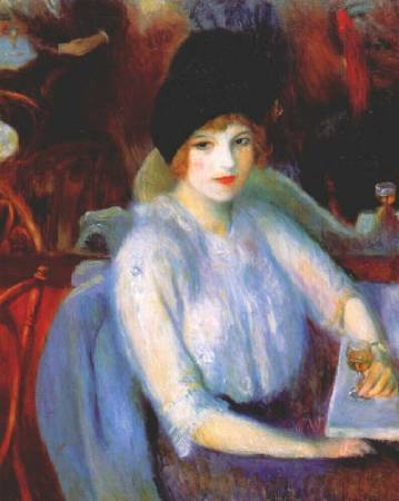 William Glackens,《Cafe Lafayette》,1914。圖/取自Wikiart。