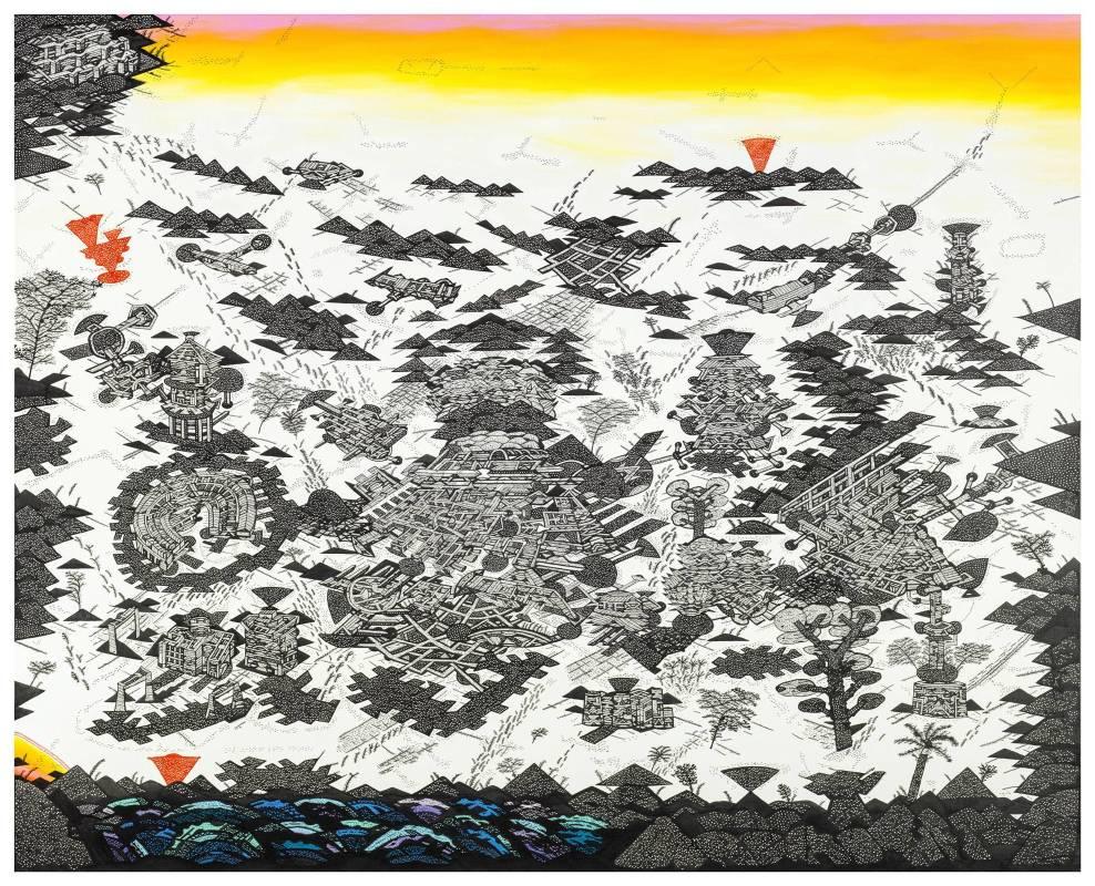 林書楷,《100F 陽台城市文明-眺望與文明的姿態》,2016。