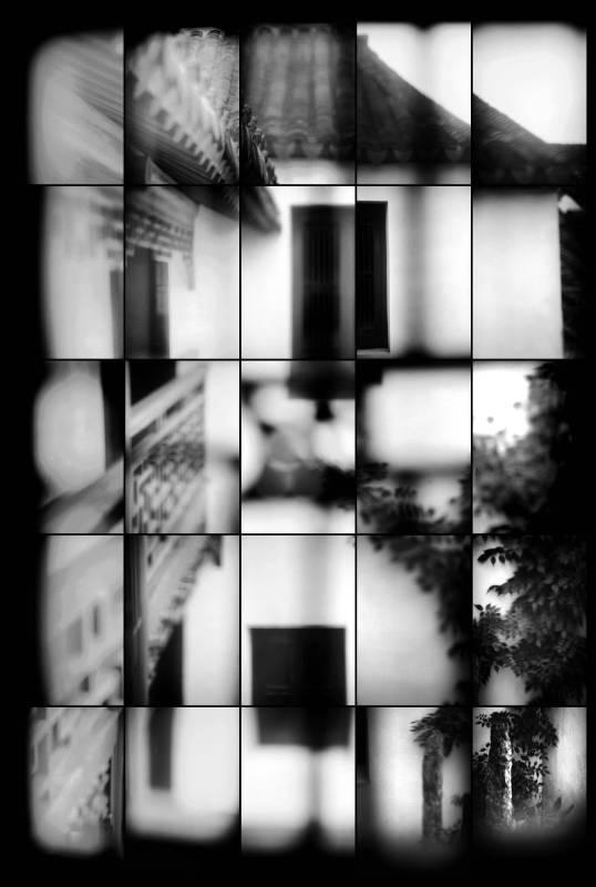 羅永進,《带假山的庭院》,2000。