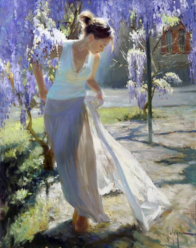 Vladimir Volegov《Wisteria》Oil on Canvas 73×92 cm 2014 俄羅斯