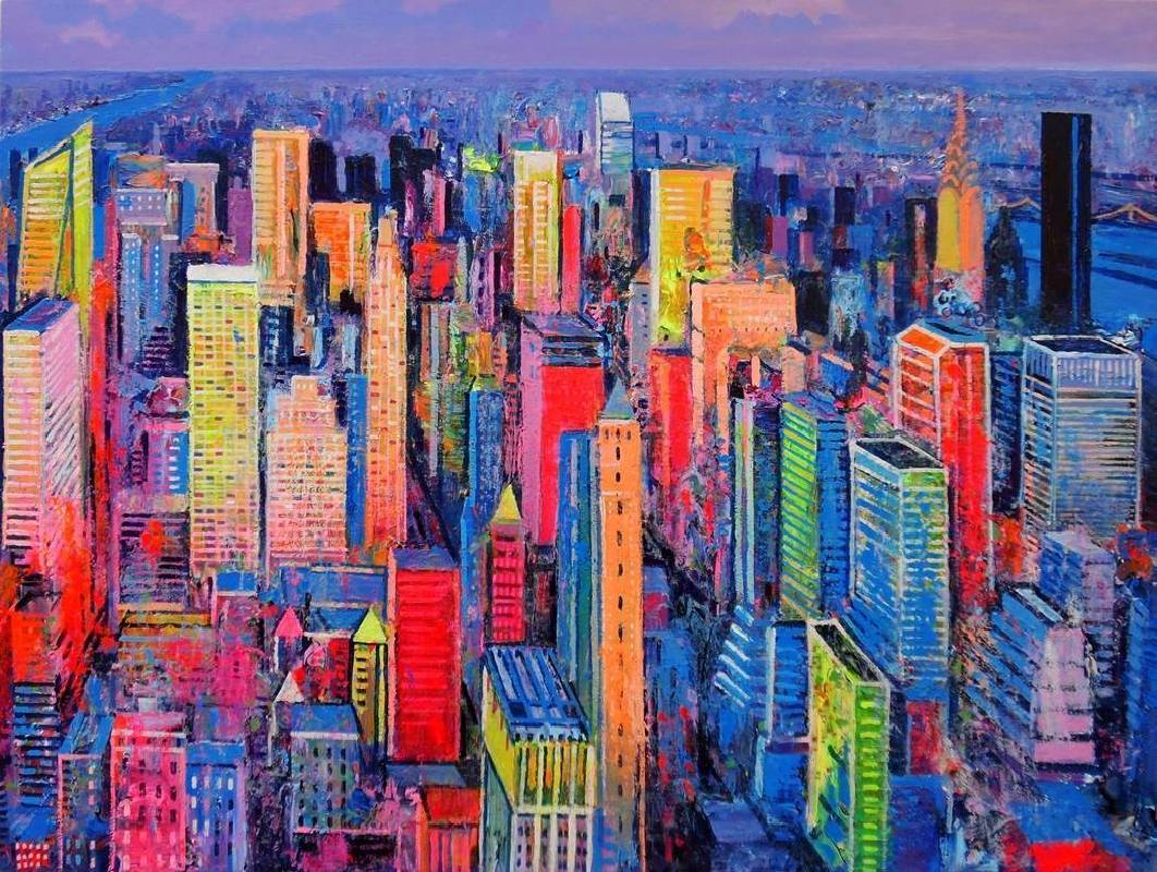 Ulpiano Carrasco《New York y Los Rios》Oil on Canvas 100×73 cm 2015 西班牙