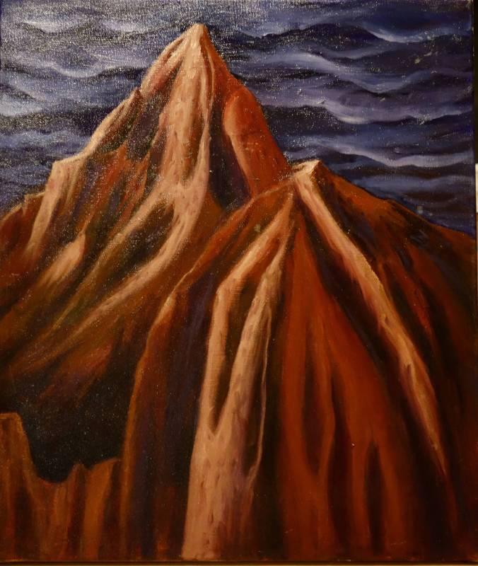 火燄山 10F 油彩畫布