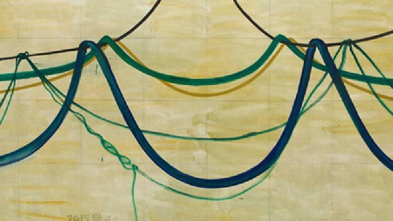 張恩利《Droop》。圖/取自Art Basel。