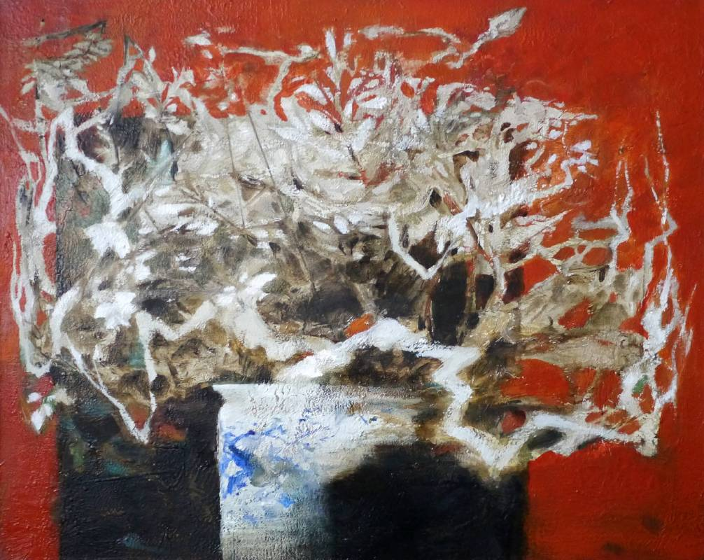 周宸 Chou Chen, 青花夢 Dream of Qinghua Porcelain,油畫 Oil on canvas,72.5x91 cm,2016