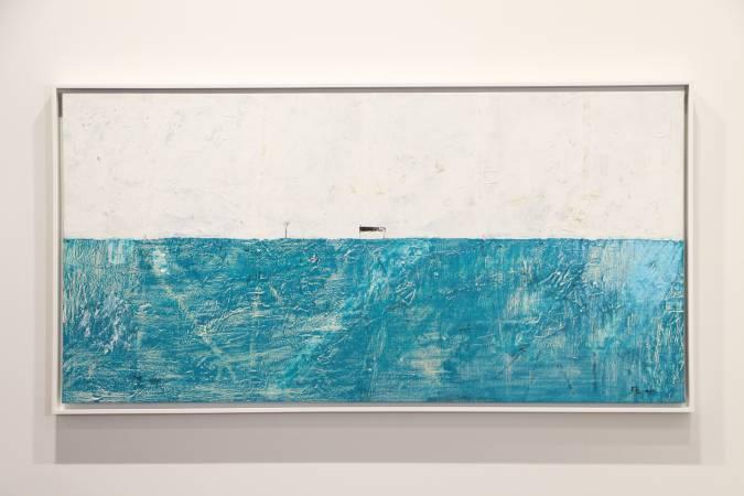 台灣藝術家葉世強《一屋一枯樹、雁群》。圖/非池中藝術網攝。