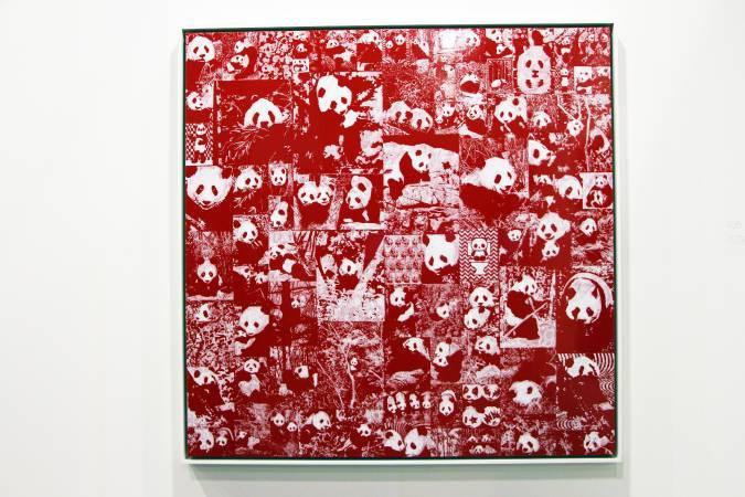 美國藝術家普魯伊特「熊貓」系列畫作。圖/非池中藝術網攝。