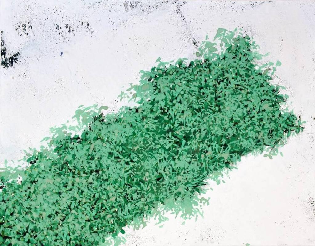 青木 叢綠十五-45° 27x35 cm 膠彩紙本 2015