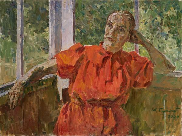 葉列梅耶夫,《窗台上》,2000年。