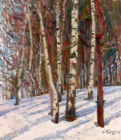葉列梅耶夫,《白樺林》,1993。