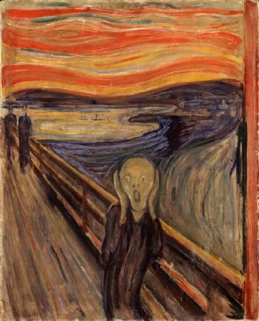 孟克《吶喊》油畫版本。圖/取自Wikipedia。