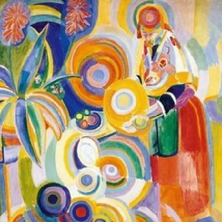 德洛內《La grande portugaise》。圖/取自Wikipedia。