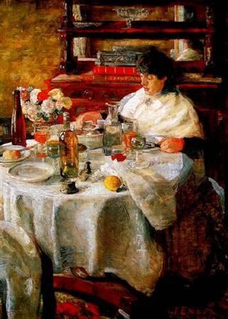 恩索爾,《The Oyster Eater》,1882。圖/取自Wikiart。