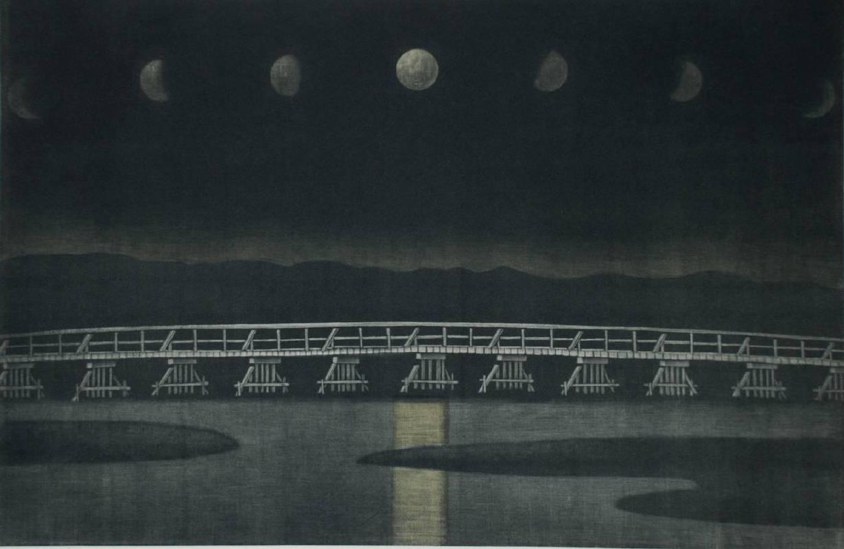 浜西勝則《Moon Over Togetsu-Bridge》,2011