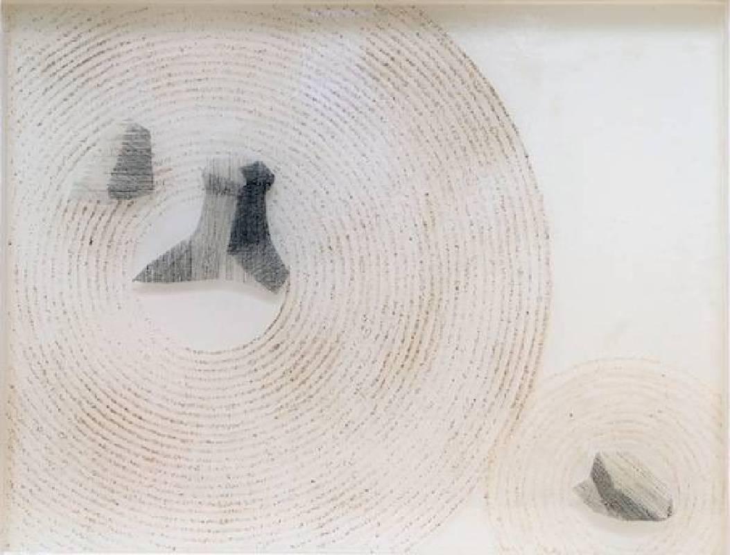 羅勝夫 枯-山水07  2015  33.5×43×3cm 墨 沙 Polyepoxide