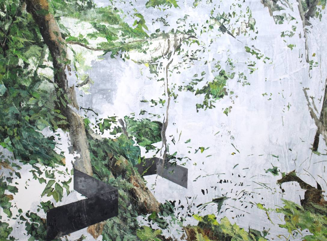 詹莊軒 風景畫_03 97x130cm 油彩、畫布 2015
